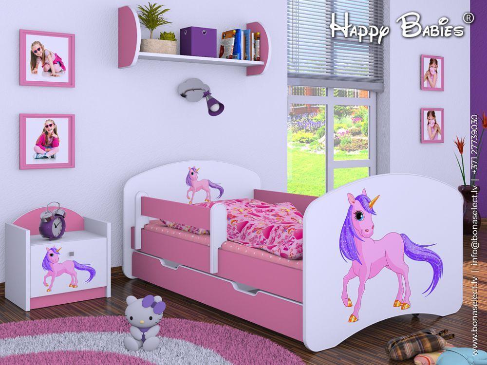 Bērnu gulta Happy L02 140x70 + picture