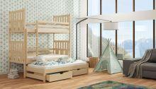 Divstāvu gulta   Janek ar stelāžām