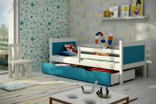 Bērnu gulta   Leon Single ar stelāžu