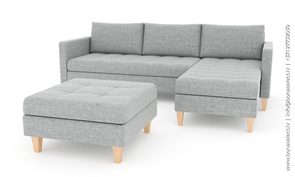 Dīvāns Oslo standard ar pufu