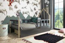 Bērnu gulta   Bruno House ar stelāžu