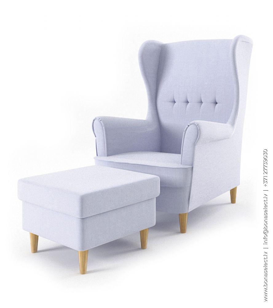 Mīksts krēsls Uszak + pufa