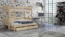 Divstāvu gulta   Cezar ar stelāžām
