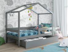 Bērnu gulta   Mia 2 House ar stelāžu