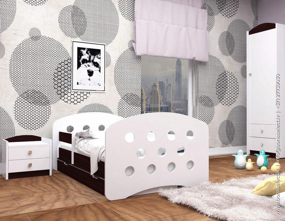 Bērnu gulta Happy Design Kolka L08 190x90 ar stelāžu