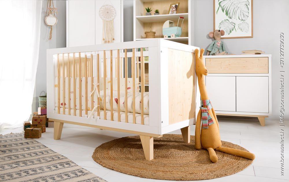 Bērnu gultiņa Lydia 120x60 ar stelāžu
