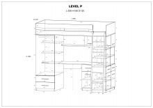 Level P ar stelāžu