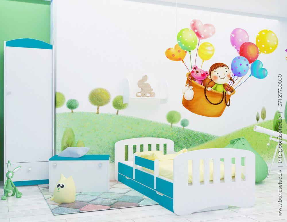 Bērnu gulta Happy Design Sczebelki L04 160x80 ar stelāžu