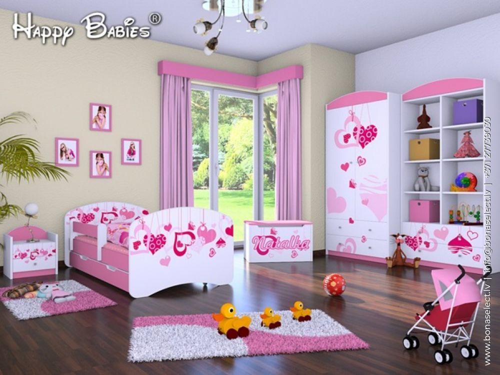?️Комплект Happy Zestaw 5 Цвет корпуса белый Цвет элементов розовый Ширина спального места 70 см Длина спального места 140 см Количество элементов 5 Материал изготовления МДФ Со шкафом С решёткой под матрас C матрасом (-ами)