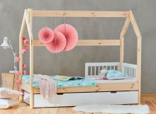 Bērnu gulta   House Premium ar stelāžu