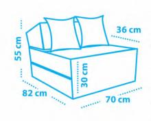 fotel wzorzysty