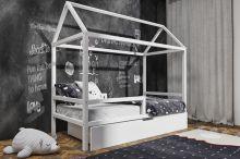 Bērnu gulta   Pola House ar stelāžu