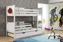 Bērnu gulta   Leon Bunk ar stelāžām