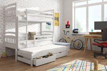 Divstāvu gulta   Alan ar stelāžām