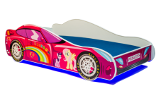 Car 2 Pink ar LED un stelāžu