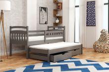 Divstāvu gulta   Marcin ar stelāžām