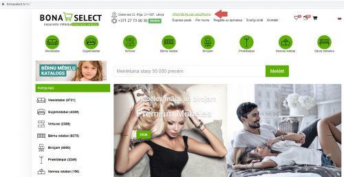 Informācija par Jūsu pasūtījumu www.bonaselect.lv