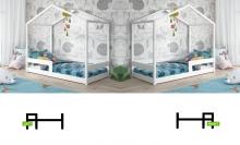 Mia House ar stelāžu