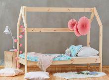 Bērnu gulta   House Basic ar stelāžu