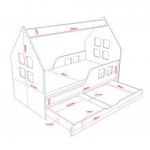 House 2 Comfort ar stelāžu