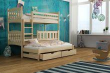 Divstāvu gulta   Anka ar stelāžām