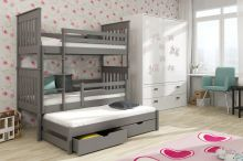 Divstāvu gulta   Jarek ar stelāžām